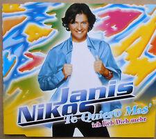 Nikos Janis - Te Quiero Mas' - Ich lieb dich mehr - Single-CD