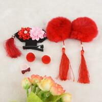 6PCS Child Hair Clip Chinese Traditional Princess Wear-resistant Hairpins Girls