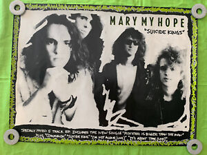 """Mary My Hope """"Suicide Kings"""" POSTER 1990 BMG Music 24x18"""