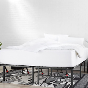 """14"""" Metal Platform Bed Frame with Tool-Free Assembly, No Box Spring Needed"""