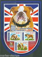 MOZAMBIQUE   2015 BRITSH BULLDOG  LONDON 2015 STAMP EXPO SHEET MINT NH