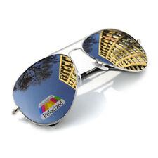 Occhiali da sole da uomo metallo e plastici argento argento