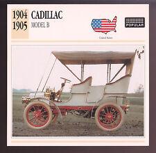 1904-1905 Cadillac Model B Car Photo Spec Sheet Info Stat ATLAS CARD