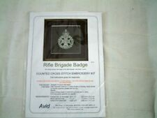 The Rifle Brigade (Kings Crown ) Badge Cross Stitch Kit