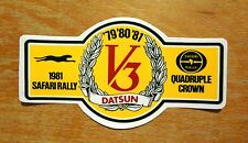 1981 Datsun Safari Rally Motorsport Sticker / Decal