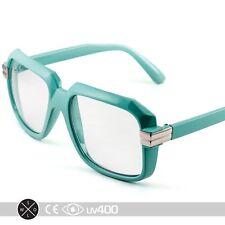 Turquoise RUN DMC Old School Hip Hop Square Vintage Squared Glasses + Case S252
