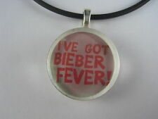 I've Got Bieber Fever Glass Disc Pendant With FREE Necklace