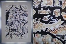 quadro astratto anni70 tempera cartoncino firmato 50x70