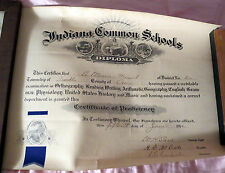 Franklin Indiana Common Schools Certificate of Proficiency Diploma from 1912