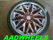 18 inch Velocity V820 Chrome wheels tires fit 4 X 114.3