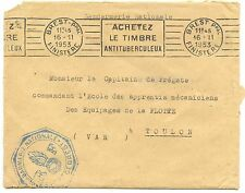 LETTRE GENDARMERIE NATIONALE BREST FINISTERE / TOULON 1953