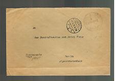 1915 Rastatt Germany POW Prisoner of War Camp Cover Red Cross Central Com Berlin