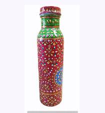 100% Copper Bottle Indian Meenakari Handmade Pitcher Beautiful Ayurveda Health