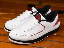 2016 Nike Air Jordan 2 II Retro Low OG SZ 11 White Red Chicago Bulls 832819-101