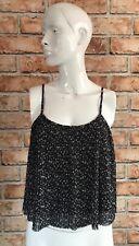 BNWT Hollister Women's Crop Black Floral Top- Medium
