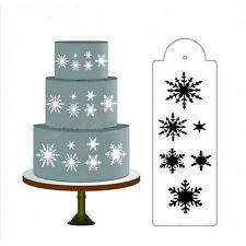 Snow Flower Cake Stencil Fondant Designer Decorating Craft Cookie Baking Tool Qe