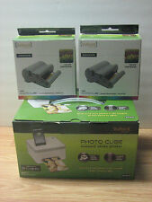 VuPoint Cube Photo Printer Bundle ,( One Loaded Cartridge) , + 2 New Cartridges
