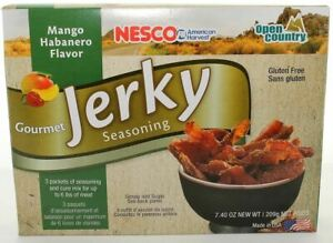 Mango Habanero Flavor Gourmet Jerky Seasoning 3 Pack Makes 6 lbs. By Nesco