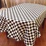 Checkered Flag Table Cover Disposable Checkered Racing Tablecloth Party Favor