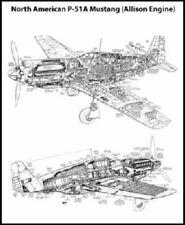 Mustang P51 Cutaway Poster 24x36