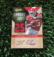 2012 ABSOLUTE JAMAAL CHARLES  GROUND HOGGS JERSEY RELIC AUTO #/5 CHIEFS
