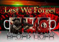 Union Jack Poppy Soldier: Mug 10-11oz Lest We Forget