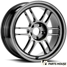 Enkei RPF1 18x10.5 +15mm  5x114.3 in SBC Black Chrome Fits G35 / 350Z / Evo X