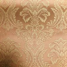 BR170 - Stunning Terracotta Satin Look Damask Curtain Fabric/ Material New