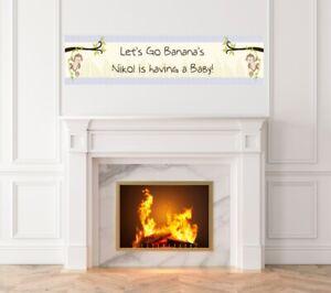Monkey - Baby Shower Printed Banner - Indoor Outdoor Monkey Banner