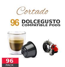 Cortado Coffee Macchiato - 96 Cortado Capsules Dolce Gusto Compatible by Italian