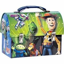 Tin Toolbox Lunch Snack Toy Carrier TOY STORY Woody Buzz Rex Friends Green NEW