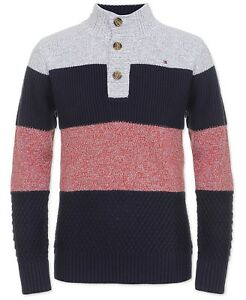 Tommy Hilfiger Little Boys Colorblocked Mock-Neck Sweater (Regular-$49.50)size 7