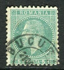 ROMANIA;  1872 early Prince Carol issue fine used 5b. value, fair Postmark