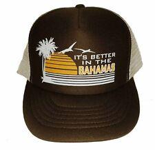 It's Better in the Bahamas Brown  Snapback Mesh Trucker Hat Cap
