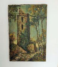 H.S.T - TABLEAU - PEINTURE - Fernand LAVAL 1886-1966 ( Art Price ) Paysage Ruine