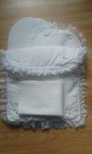 Bedding Quilt Pillow Sheet Mattress Mamas & Papas Junior X-cel Doll Pram White
