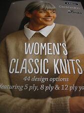 PATONS/CLECKHEATON/PANDA KNITTING PATTERN BOOK CLASSIC DES,5/8/12 PLY NO 301,