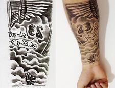 Illuminati Flügel 23 Temporary Temporäre Klebe Einmal Tattoo 10,5x21 cm HB87