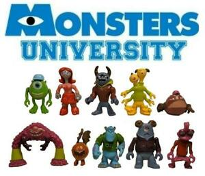 Monsters University Sully Mike 10x Figures Set Lot Cake Toppers Figurines Inc 14