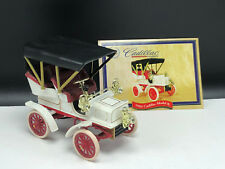 NATIONAL MOTOR MUSEUM MINT diecast model car cadillac 1904 model B white red coa