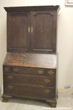ANTICA LIBRERIA CON RIBALTA IN LEGNO DI ROVERE '700 ANTIQUE OAK BUREAU BOOKCASE
