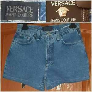 VERSACE JEANS COUTURE,ITTIERRE S.P.A denim shorts women blue Sz 31