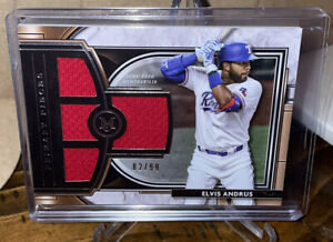 Elvis Andrus 2021 Topps Museum Collection Game Used Quad Relic #d /99