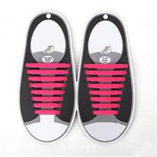 16pcs Easy No Tie Shoelaces Elastic Silicone Flat Shoe Lace Set for Kids Adult