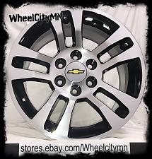 18 inch black 2015 2016 Chevrolet Silverado 1500 OE factory rims 5646 6x5.5 +24