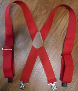 "New CLC Red Work Gear Suspenders 2"" Wide"