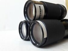 LOT OF 3  Vivitar MC Macro Focusing Zoom 70-210mm 1:4.5 Olympus Mount