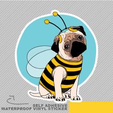 Funny Pug Cute Wearing Bee Outfit J Vinyl Sticker Decal Window Car Van Bike 2361