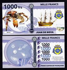 ★★★ ILE JUAN DE NOVA ● TAAF ● BILLET POLYMER 1000 FRANCS ★★ COLONIE FRANCAISE