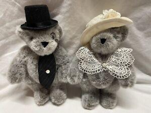 "COLLECTOR'S LIMITED EDITION VERMONT TEDDY BEAR COMPANY ""TWININGS TEA"" BEARS PAIR"